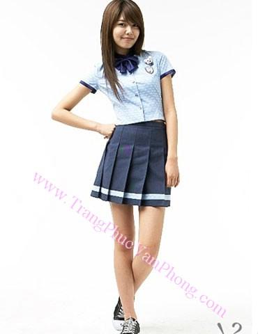 Đồng phục học sinh nữ điệu đà với phong cách Hàn Quốc